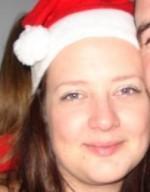 Janine in a Santa Hat